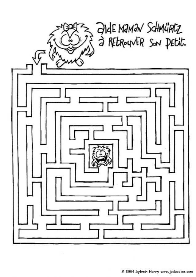 Labyrinthe - Jeux labyrinthe a imprimer ...